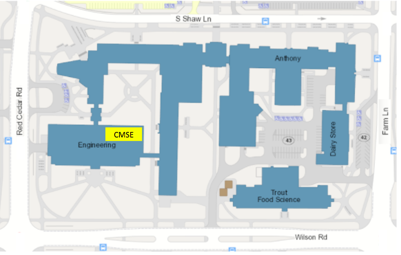 CMSE Location in Engineering Building