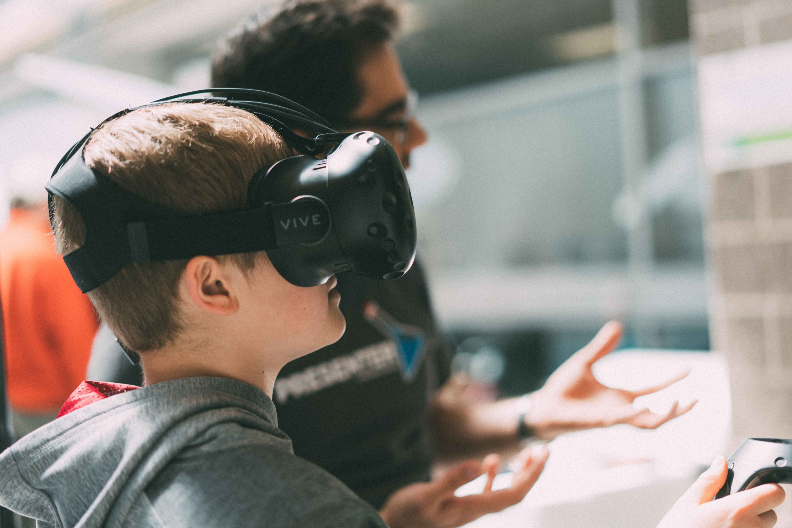 Child using VR setup